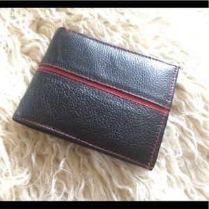 NWOT-Black Leather Bifold Wallet